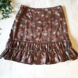 Marc Jacobs Ditsy Floral Ruffle Silk Skirt 6